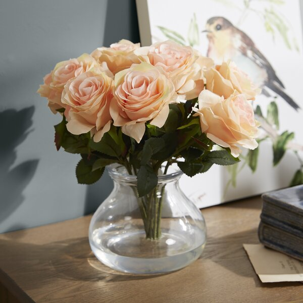 Rose Arrangement in Vase by World Menagerie