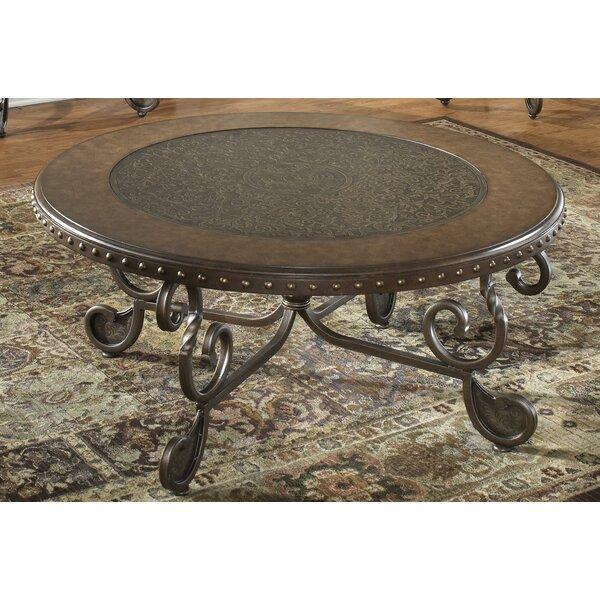 Vega Metal Etched Coffee Table by Fleur De Lis Living Fleur De Lis Living