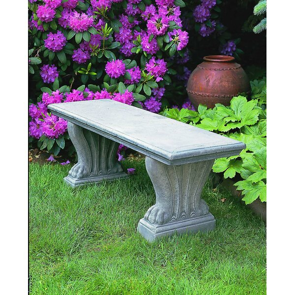 West Chester Cast Stone Garden Bench by Campania International
