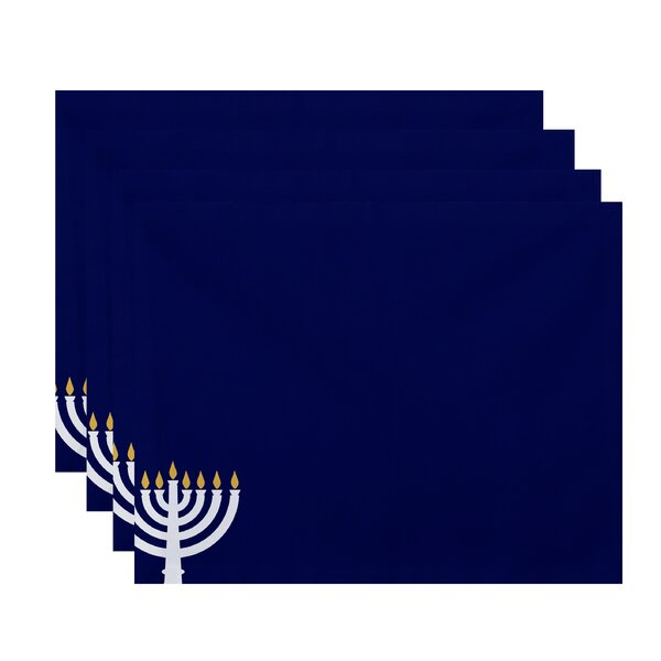 Eight Days of Light Holiday Stripe Print Placemat (Set of 4) by The Holiday Aisle