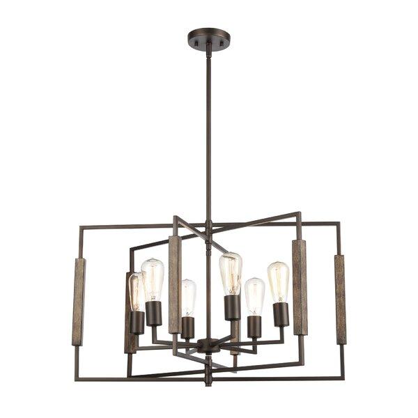 Huldrik 6 - Light Unique / Statement Geometric Chandelier By Gracie Oaks