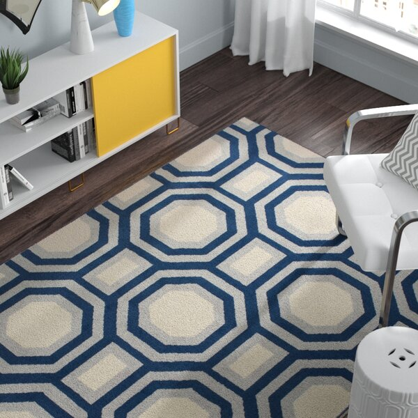 Dillinger Navy Area Rug by Zipcode Design