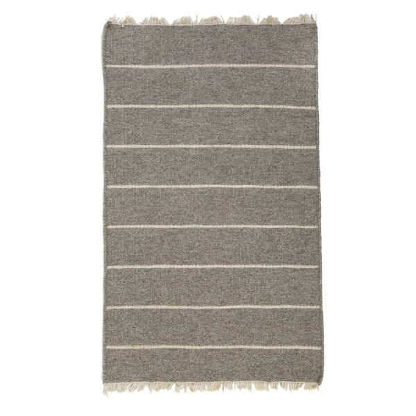 Warby Striped Hand-Woven Light Gray Rug