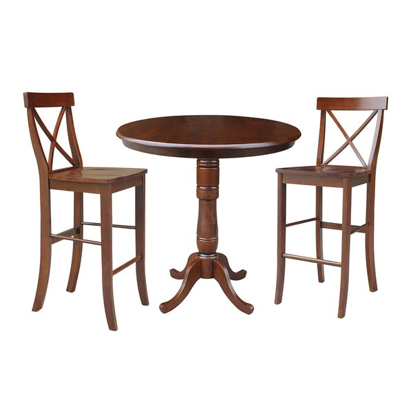 Dingler 3 Piece Pub Table Set by Darby Home Co