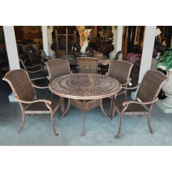 Wasserman 5 Piece Multiple Chairs Seating Group by Fleur De Lis Living
