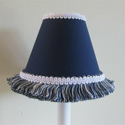 Night Sky 7 H Fabric Empire Lamp shade ( Screw on ) in Blue/White