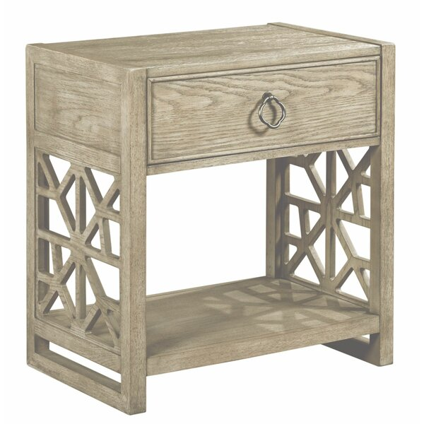 Rodgers 1 Drawer Nightstand by Rosalind Wheeler
