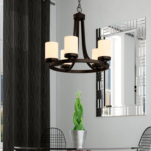 Gallman 5 - Light Shaded Chandelier By Wrought Studio