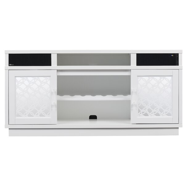 Lerch 70 TV Stand with Electic Fireplace by Latitude Run