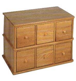 Carey Modular Multimedia Tabletop 6 Drawer Storage