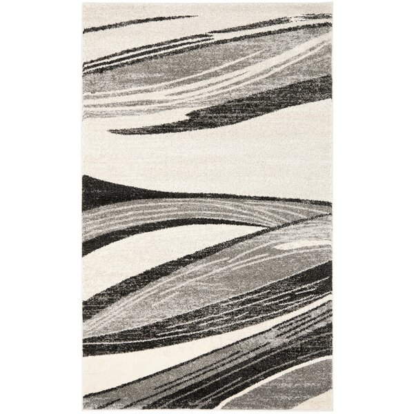 Gordon Light Grey/Ivory Rug by Wade Logan