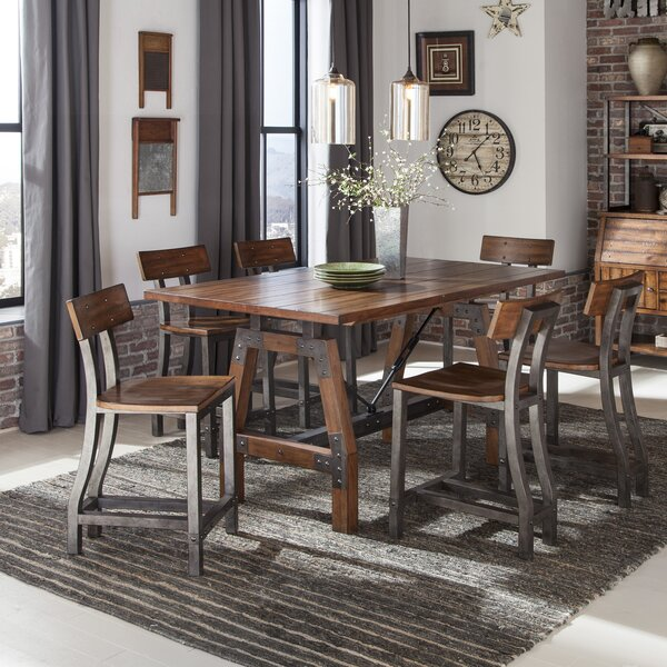 Hawkinge 7 Piece Counter Height Dining Set by Williston Forge