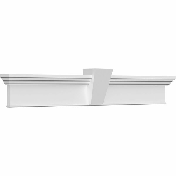 Craftsman Bottom Trim/Flat Keystone Cross Head by Ekena Millwork
