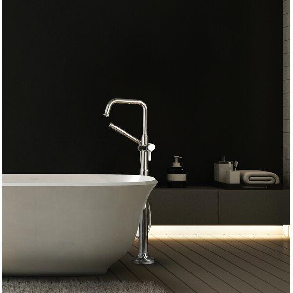 Momenti Single Handle Floor Mounted Clawfoot Tub Faucet Trim By Riobel