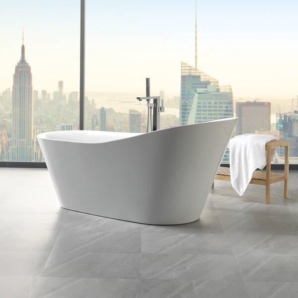 Arges 70.8 x 32 Freestanding Soaking Bathtub by ANZZI