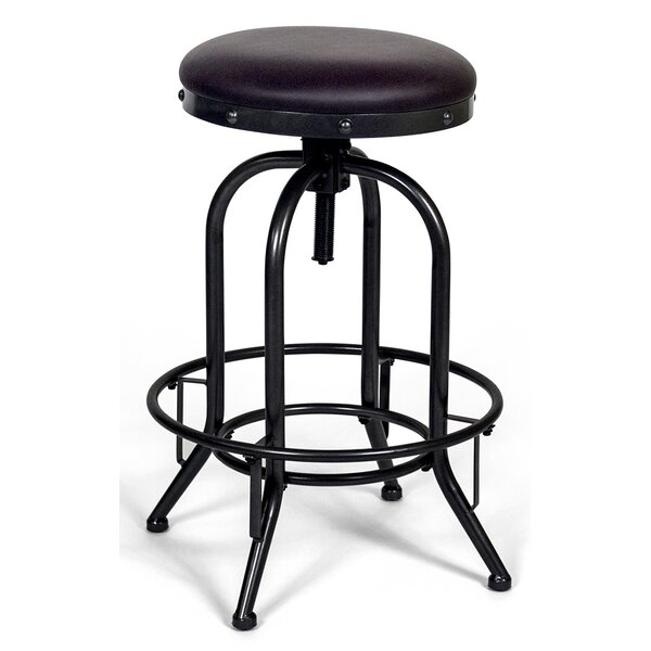 Halie Adjustable Backless Height Swivel Bar Stool by Williston Forge