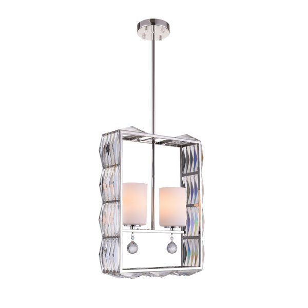 Scroggins 2-Light Shaded Geometric Chandelier by House of Hampton House of Hampton