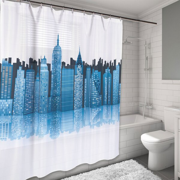 New York City Skyline Water Resistant Shower Curtain by Sweet Home Collection