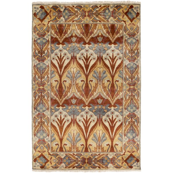 Pritchard Hand Knotted Brown Area Rug by Darby Home Co