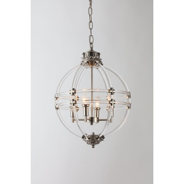 Samara 4 - Light Candle Style Globe Chandelier by Charlton Home Charlton Home