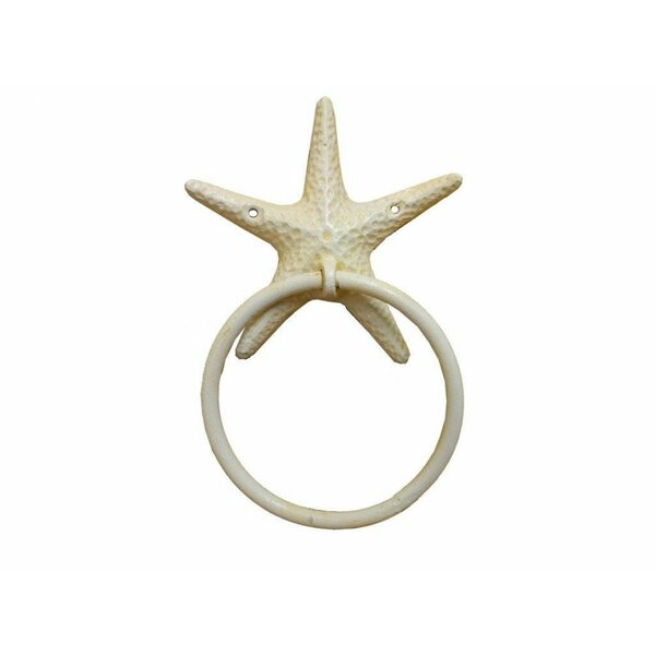 Cast Iron Starfish Towel Ring by Handcrafted Nautical Decor