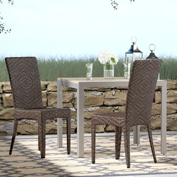 Tanja Patio Dining Chair (Set of 2) by Beachcrest Home