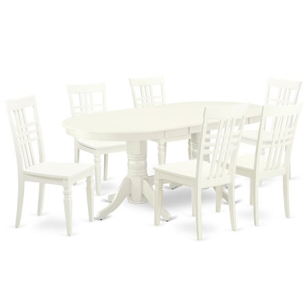 Hillwix 7 Piece Extendable Solid Wood Dining Set by Winston Porter Winston Porter
