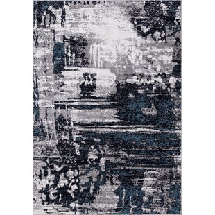 Best Choices Mccollough Beautifully Vintage Navy Blue/Gray Area Rug By Williston Forge