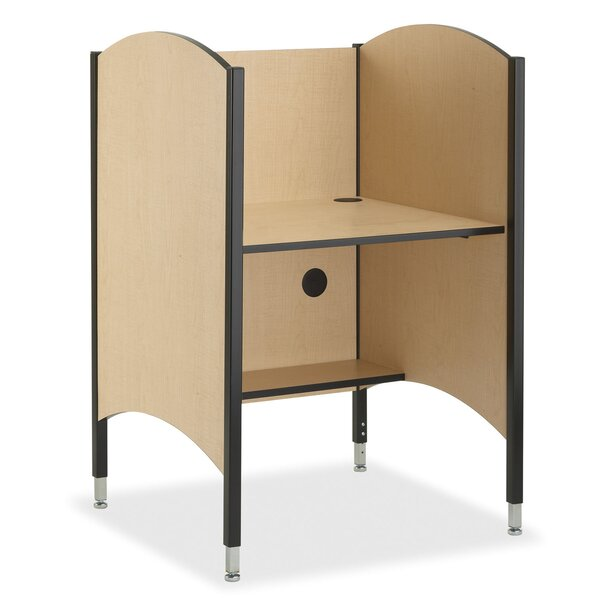Wood Adjustable Height Study Carrel by Smith Carrel