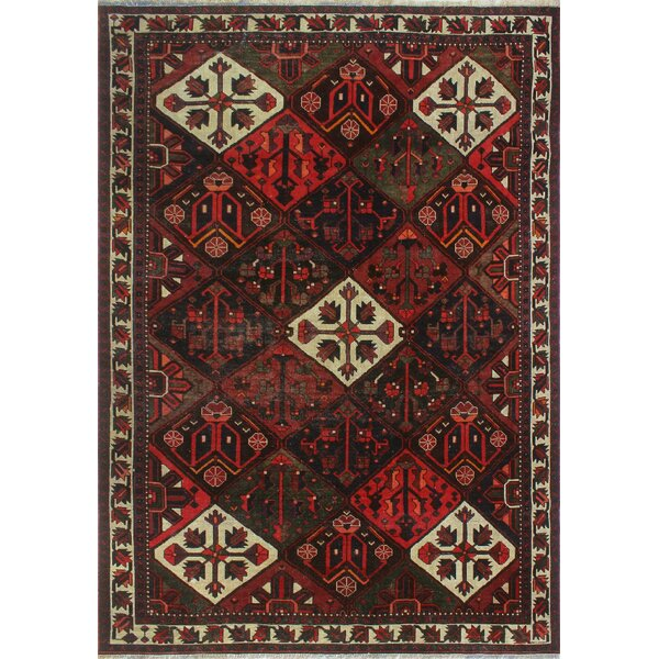 One-of-a-Kind Millay Bukhtiari Hand-Knotted Wool Red Are Rug by Bloomsbury Market