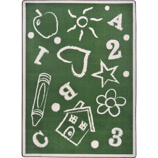 Hand-Tufled Green Kids Rug by The Conestoga Trading Co.