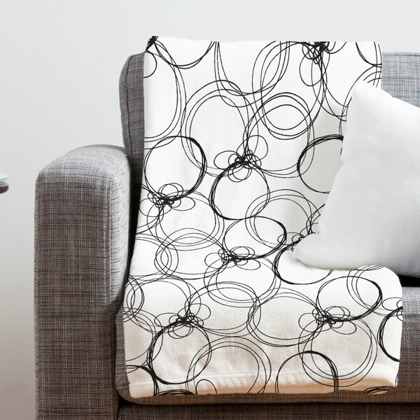 Rachael Taylor Circles Throw Blanket by Deny Designs