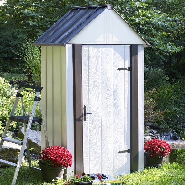 Designer Series 4 ft. 6 in. W x 3 ft. D Metal Vertical Tool Shed by Arrow