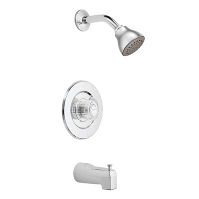 Chateau Tub and Shower Faucet Trim with Knob Handle and Select by Moen