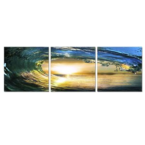Wave 3 Piece Photographic Print Set by Furinno