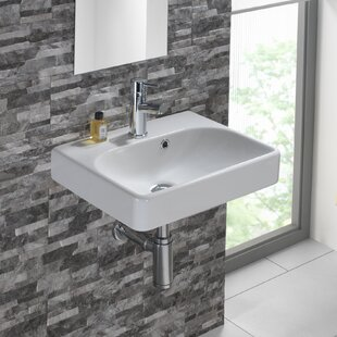 Comparison Smyle Vitreous China 18 Wall Mount Bathroom Sink with Overflow By Bissonnet