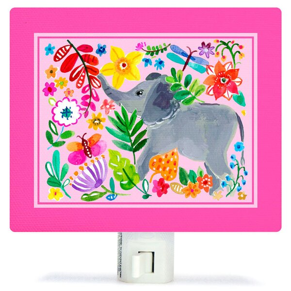 Painted Jungle Canvas Night Light by Oopsy Daisy