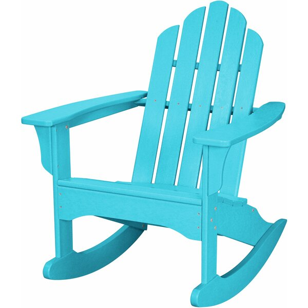 Yoshioka Plastic Rocking Adirondack Chair by Rosecliff Heights