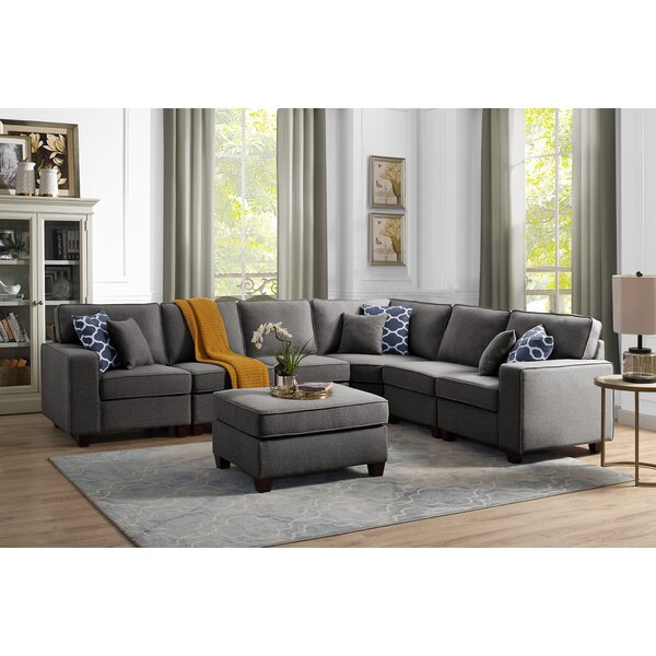 Fine Brand Laureen Modular Sectional with Ottoman by Ivy Bronx by Ivy Bronx