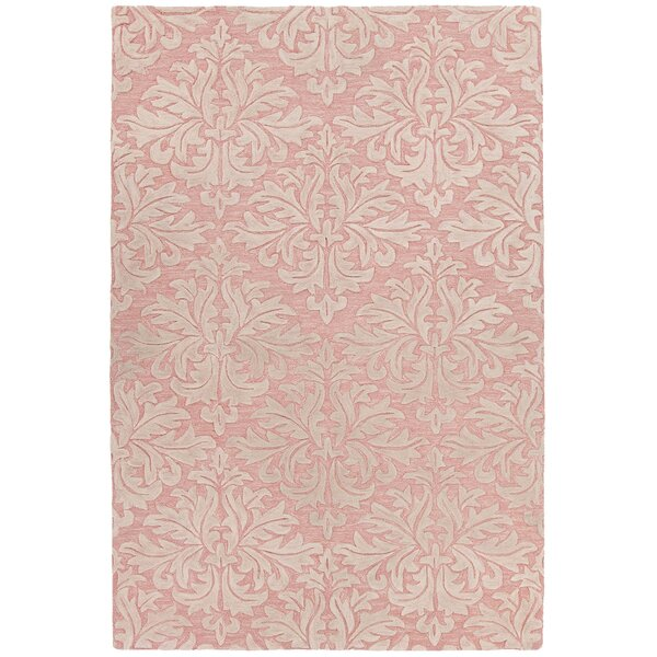 Boothe Hand-Tufted Pink/Ivory Area Rug by Rosdorf Park