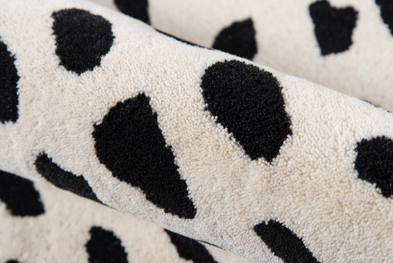 Polka Dots Handmade Tufted Wool Ivory Black Area Rug Reviews Joss Main