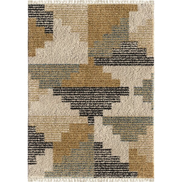 Damon Blocks Ivory Area Rug by Foundry Select