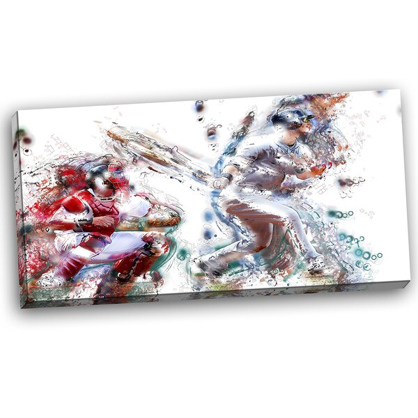Baseball Strike Graphic Art on Wrapped Canvas by Design Art