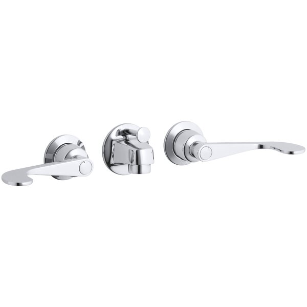Triton Wall mounted Bathroom Faucet with Drain Assembly by Kohler