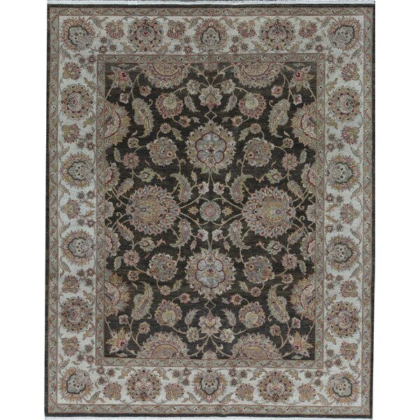 Oriental Hand-Knotted 8.1' x 10.1' Wool Brown/Ivory Area Rug