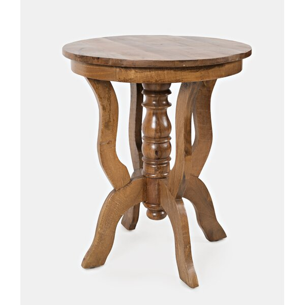 Manila Solid Wood End Table By World Menagerie