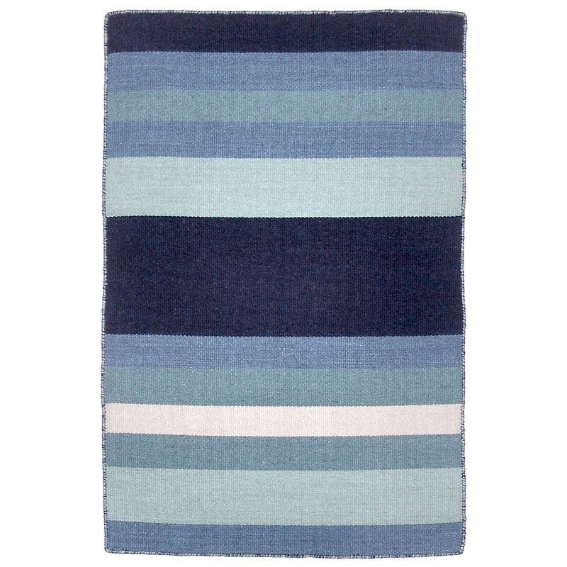 Beachcrest Home Ranier Hand-Woven Blue Indoor/Outdoor Area Rug ...
