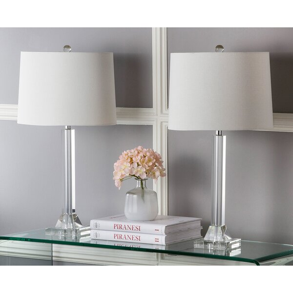 Tyrone Column 27 Table Lamp (Set of 2) by Safavieh