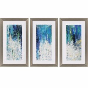 Surface by Jardine 3 Piece Framed Painting Print Set by Paragon