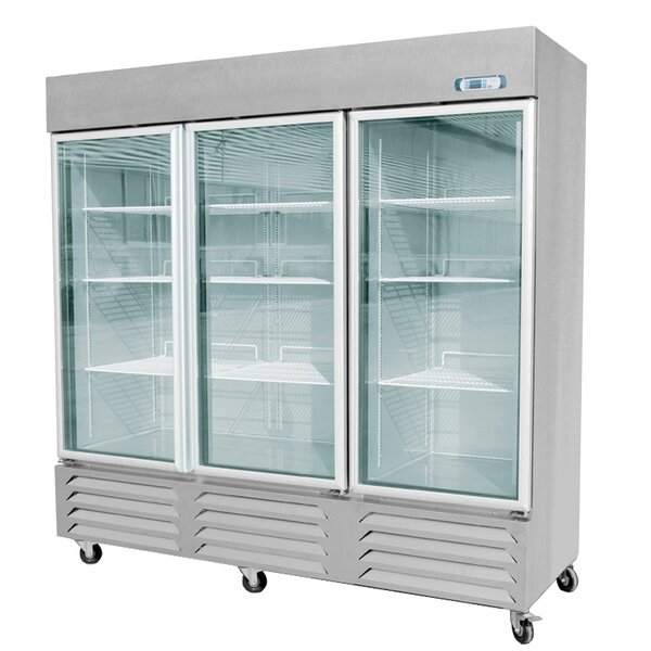 Commercial Glass Door Standing 70.8 cu. ft. Energy Star Counter Depth All-Refrigerator by EQ Kitchen Line